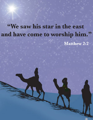 We saw his start in the east and have come to worship him.