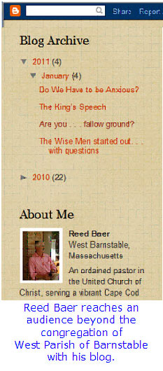 Reed Baer reaches an audience beyond his church with his blog.