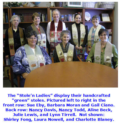 """Stole'n Ladies"" of the United Church of Christ Congregational in Burlington"
