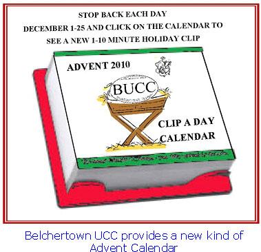 Belchertown UCC Advente Calendar