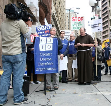 The Rev. Laura Jarrett of Hope Central Church at Bank of America Protest
